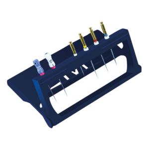 Эндодонтический секвенсор с 8 отверстиями и 2 градуированными линейками.